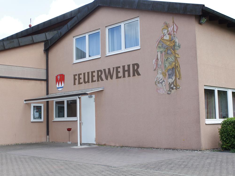 Ansicht des Gerätehauses der Freiwilligen Feuerwehr Markt Oberthulba