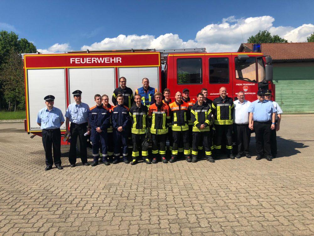 """""""Zum Einsatz fertig"""": Leistungsprüfung der Freiwilligen Feuerwehr Oberthulba"""