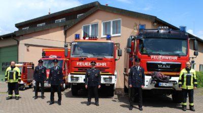 Kommandanten und Vorstandschaft der Feuerwehr Oberthulba